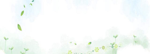 绿色小清新PPT背景图片